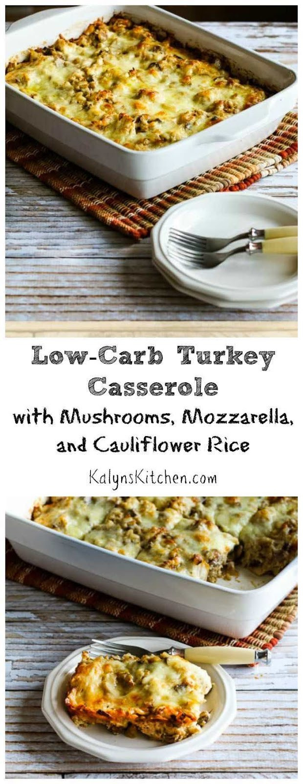 Ground Turkey Casserole Low Carb  Kalyn s Kitchen Low Carb Turkey Casserole with Mushrooms