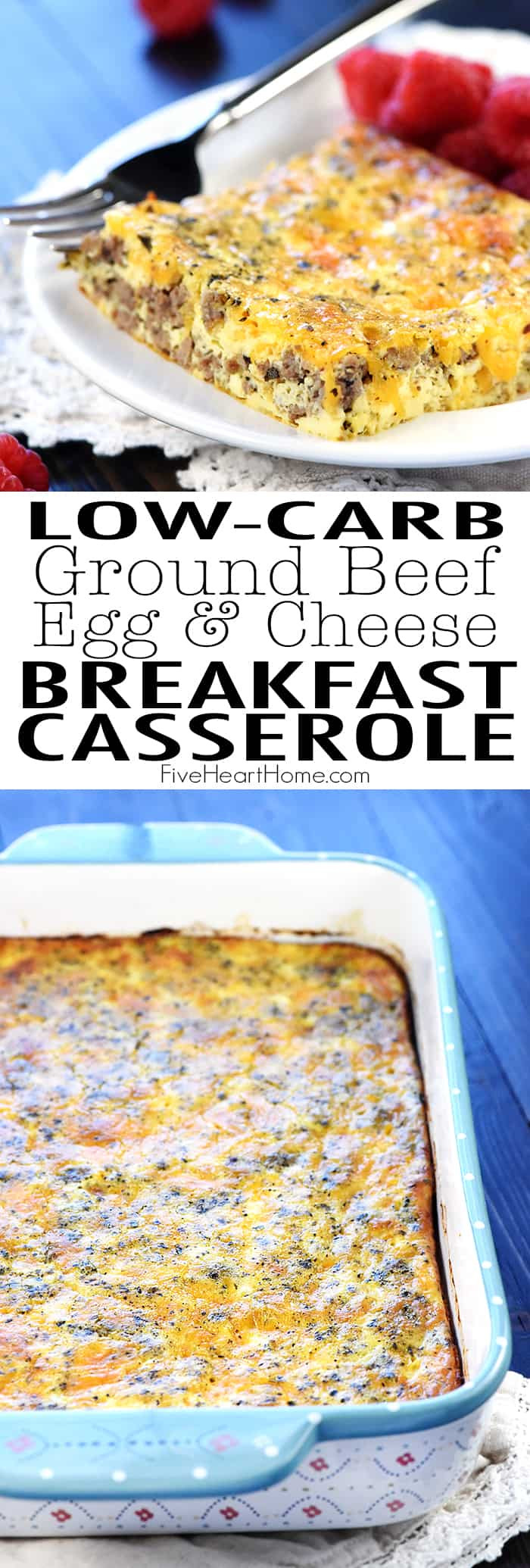 Ground Turkey Casserole Low Carb  Ground Beef Egg & Cheese Breakfast Casserole