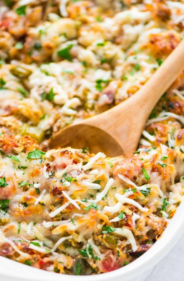 Ground Turkey Casserole Low Carb  Healthy Spaghetti Squash Casserole with ground turkey