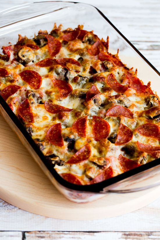 Ground Turkey Casserole Low Carb  Low Carb Deconstructed Pizza Casserole Video Kalyn s