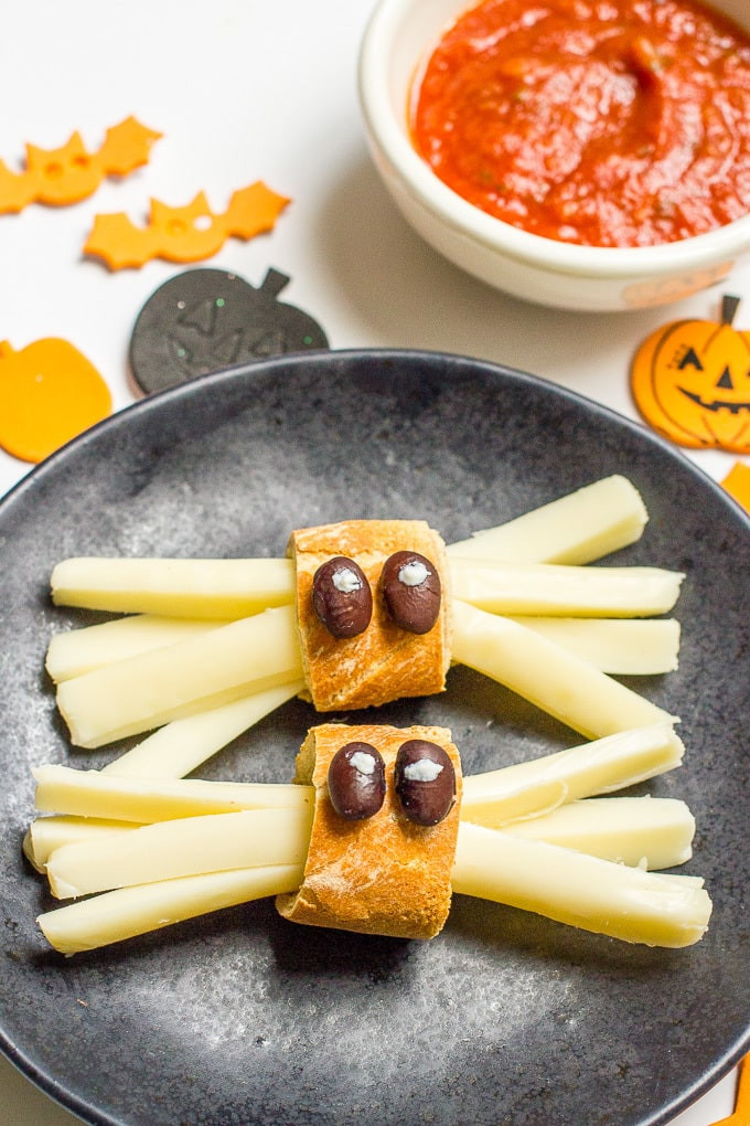Halloween Healthy Snacks  Healthy Halloween spider snacks Family Food on the Table