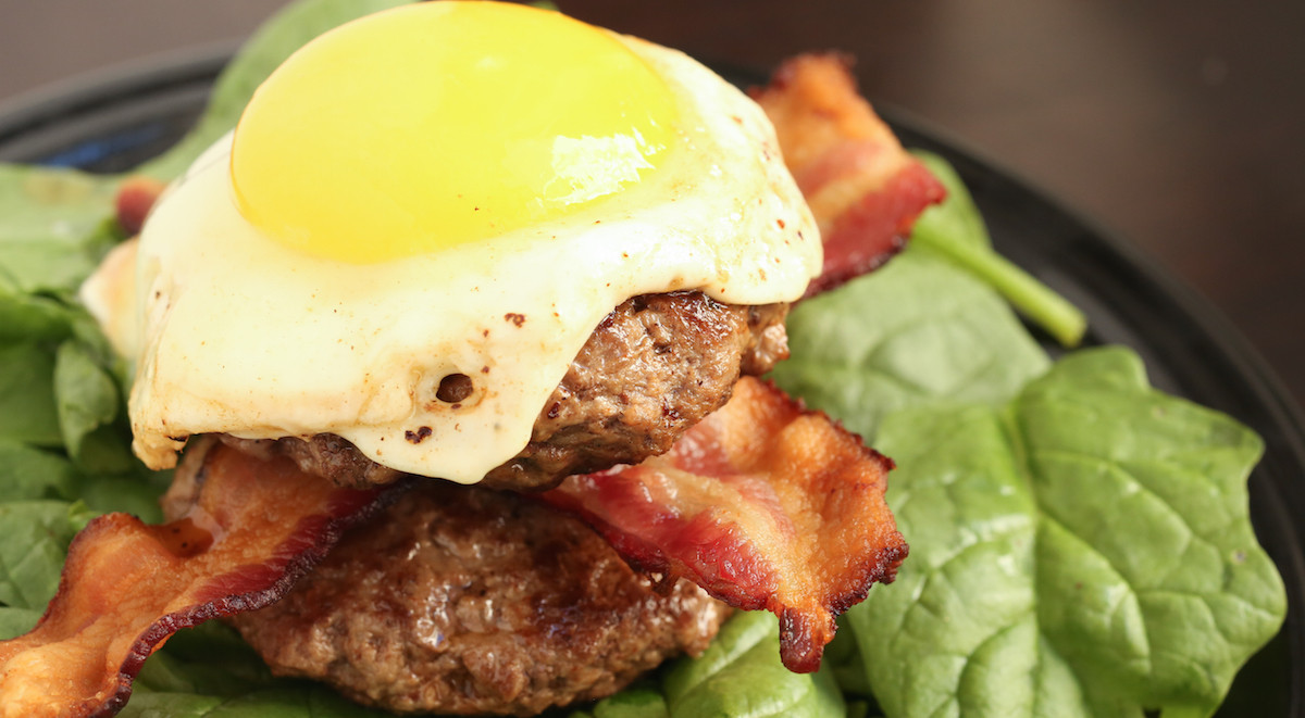 Hamburger Recipes Low Carb  Low Carb Paleo Bacon Burger Recipe Cooking With Janica