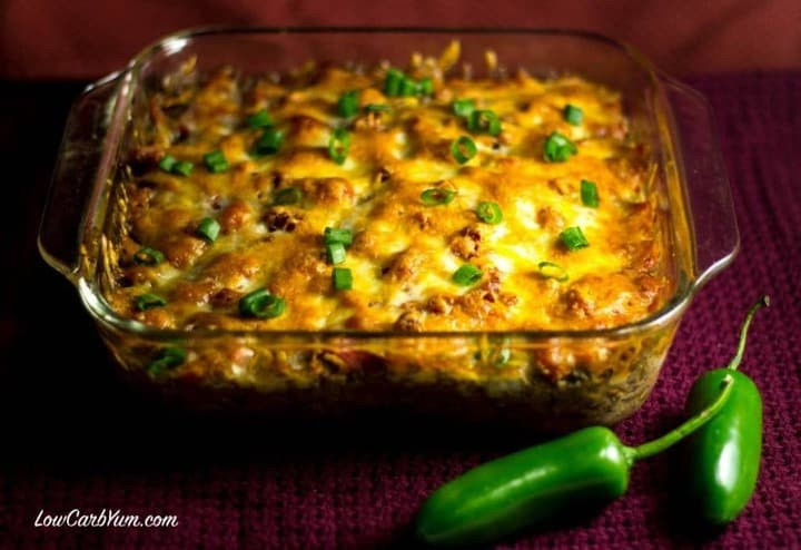Hamburger Recipes Low Carb  Southwest Casserole with Ground Beef and Beans