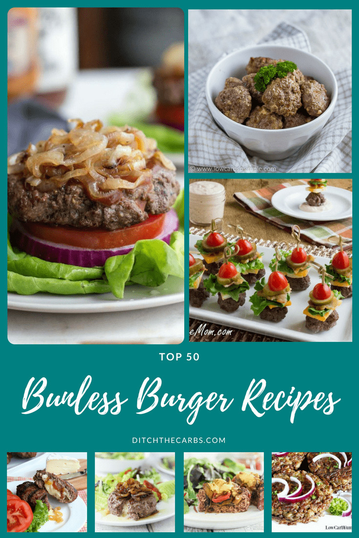 Hamburger Recipes Low Carb  Top 50 Bunless Burger Recipes for Low Carb Burgers Know
