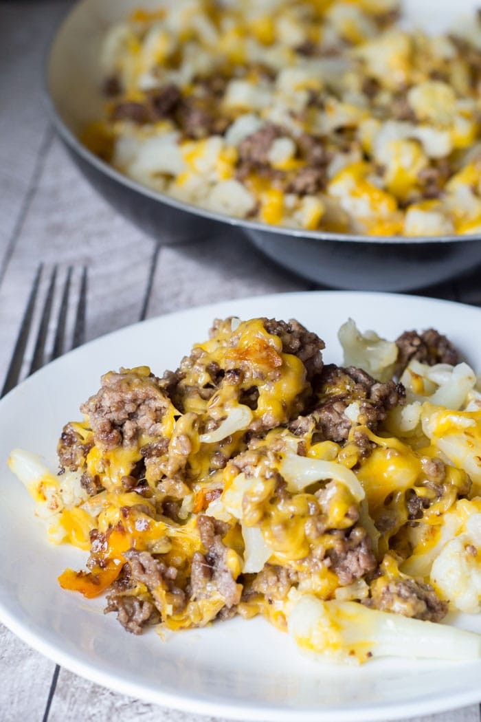 Hamburger Recipes Low Carb  Cauliflower and Ground Beef Hash Low Carb Recipe Glue