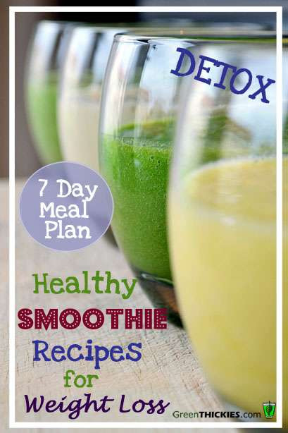 Healthiest Smoothies For Weight Loss  Healthy Meal recipes to lose weight plicated Recipes