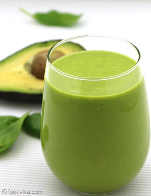 Healthy Avocado Smoothie Recipes  Avocado Smoothie with Almond Milk Spinach and Orange