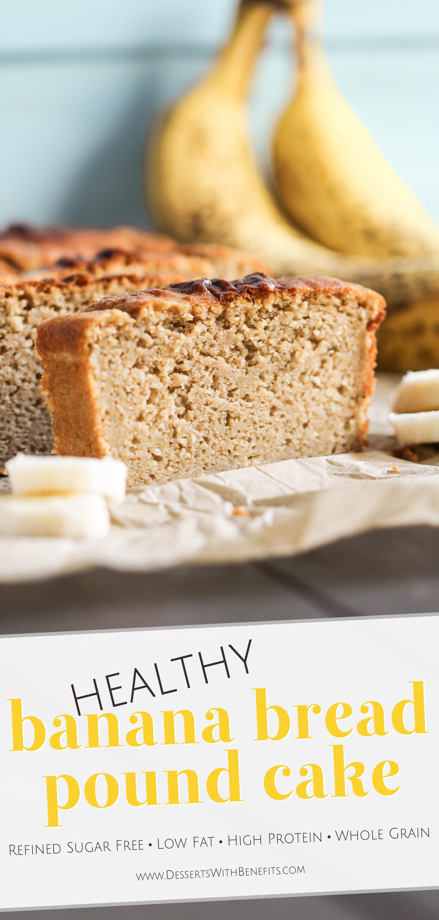 Healthy Bread Options  Healthy Banana Bread Pound Cake Recipe