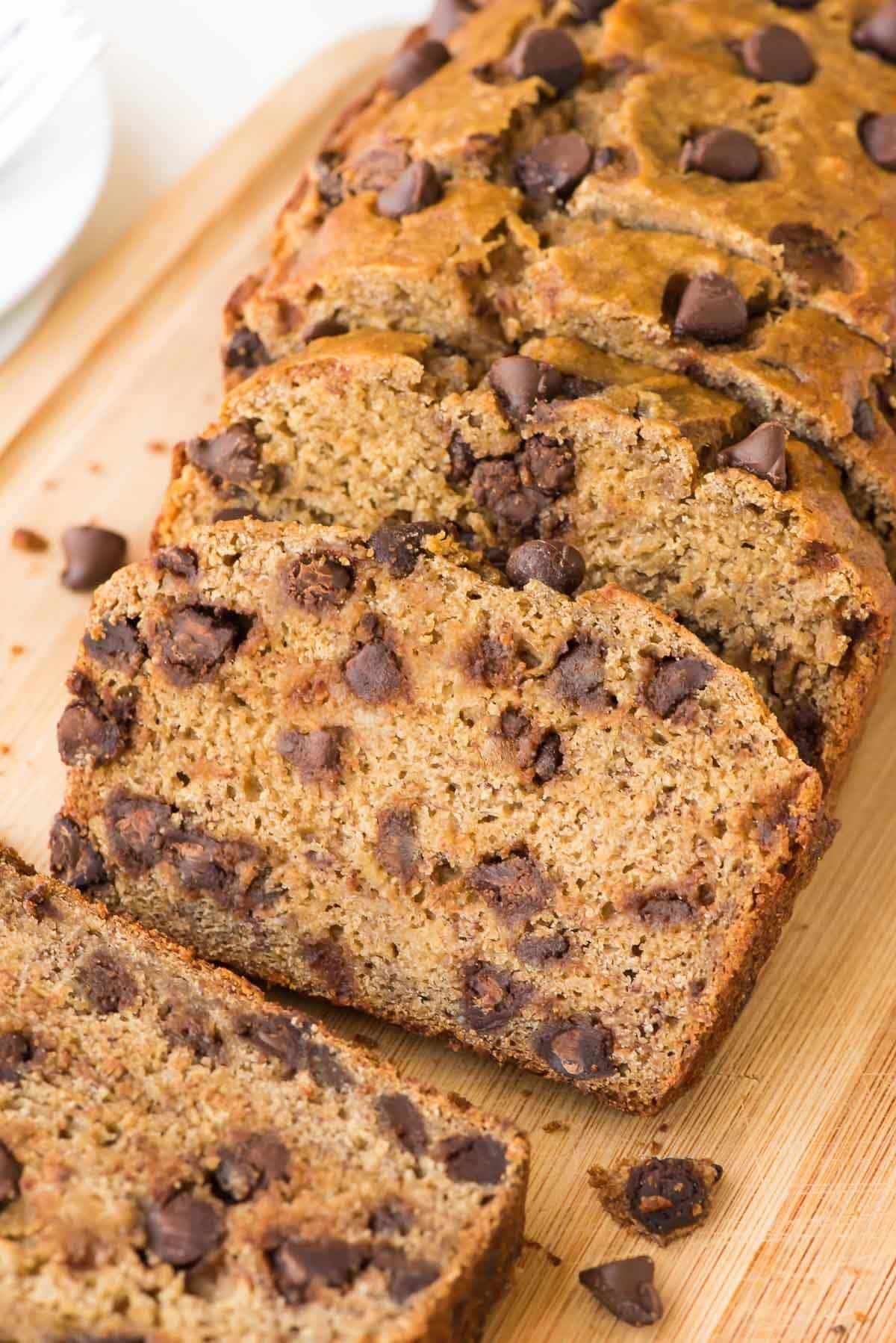 Healthy Bread Recipes  Healthy Banana Bread Recipe with Chocolate Chips