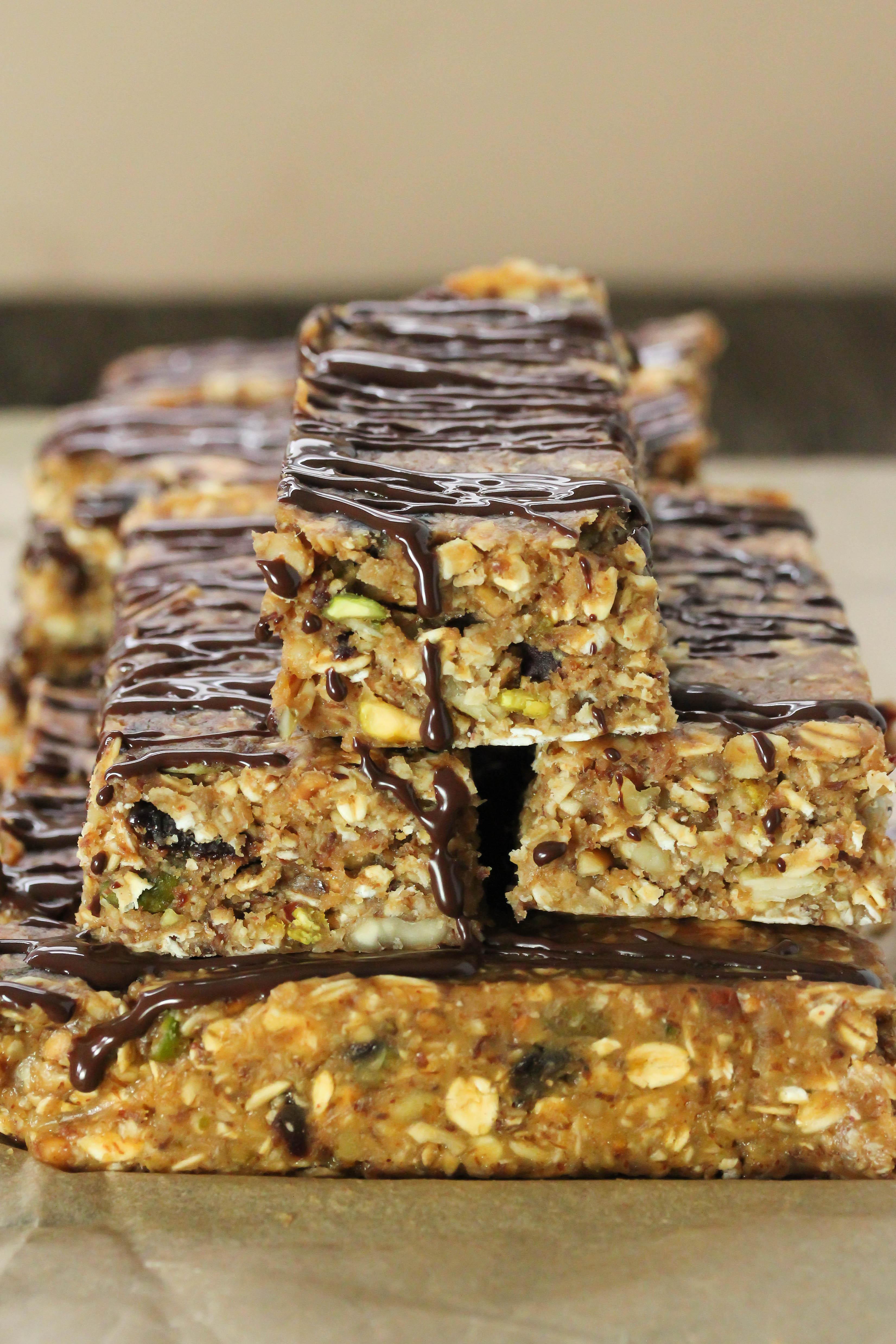 Healthy Breakfast Bars  No bake breakfast bars Gluten free vegan