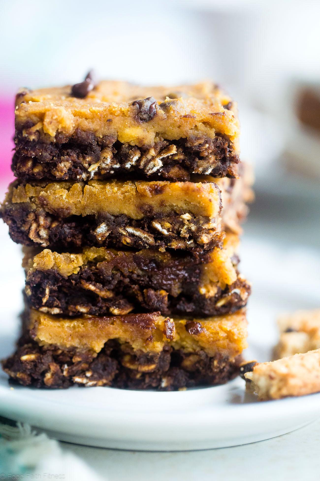 Healthy Breakfast Bars  Vegan Cookie Dough Oatmeal Breakfast Bars Gluten Free