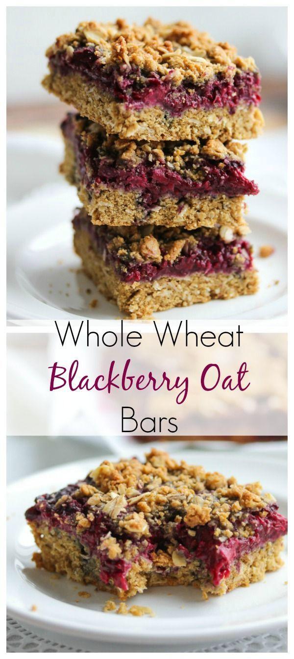 Healthy Breakfast Bars  Whole Wheat Blackberry Oat Bars Recipe