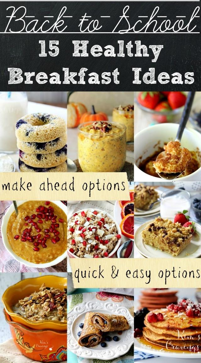 Healthy Breakfast For Teens  Healthy Back to School Breakfast Ideas Kim s Cravings