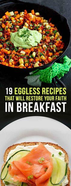 Healthy Breakfast No Eggs  1000 ideas about No Egg Breakfast on Pinterest