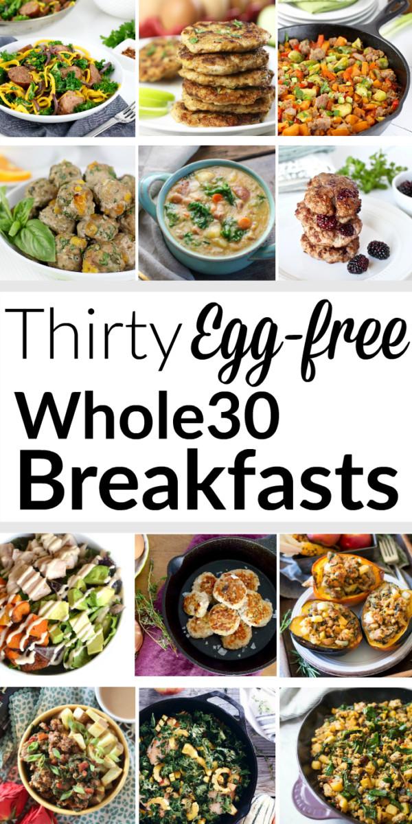 Healthy Breakfast No Eggs  30 Egg free Whole30 Breakfasts Pinterest