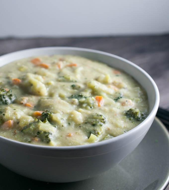 Healthy Broccoli Soup Recipe  Creamy Vegan Broccoli Soup Recipe