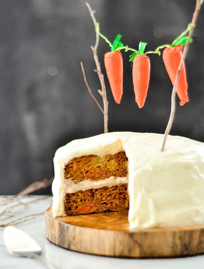 Healthy Carrot Cake Recipe With Pineapple  Healthy Carrot Pineapple Cake JoyFoodSunshine