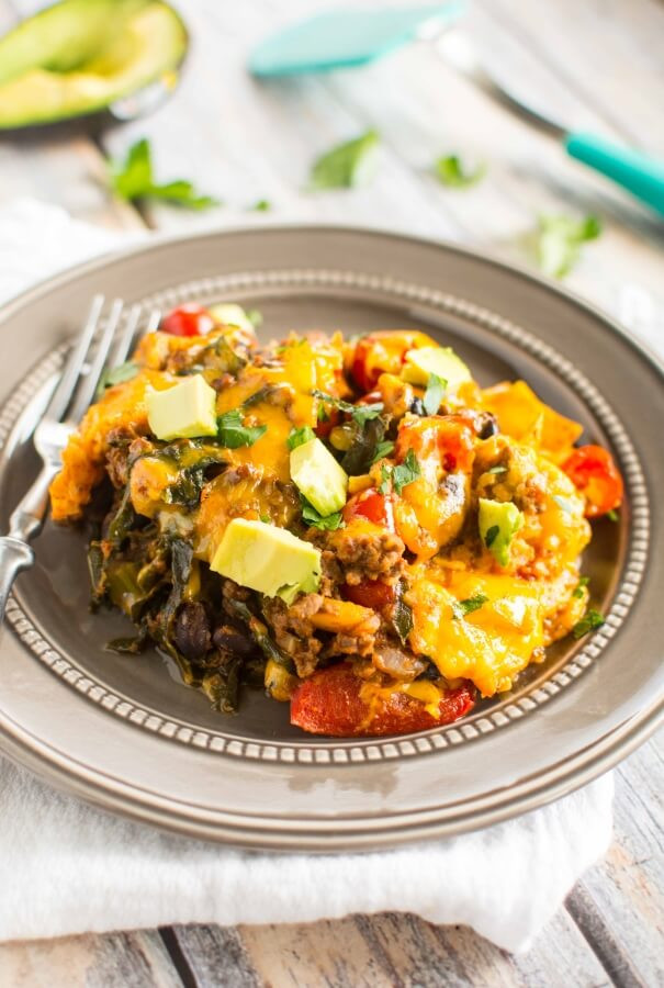 Healthy Casseroles With Ground Beef  Slow Cooker Healthy Taco Casserole Slow Cooker Gourmet