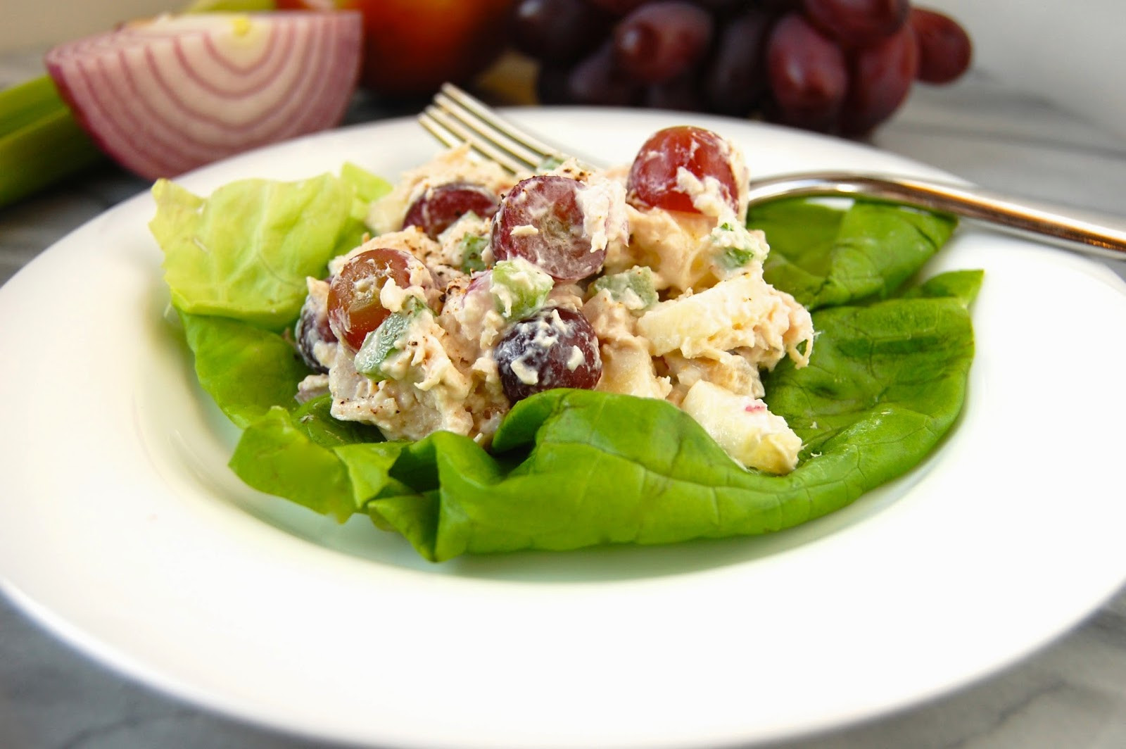 Healthy Chicken Salad Recipe With Greek Yogurt  Much Kneaded Healthy Chicken Salad with Greek Yogurt