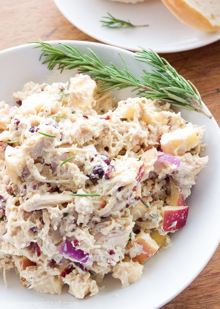 Healthy Chicken Salad Recipe With Greek Yogurt  Rosemary Greek Yogurt Chicken Salad Bless Her Heart Y all