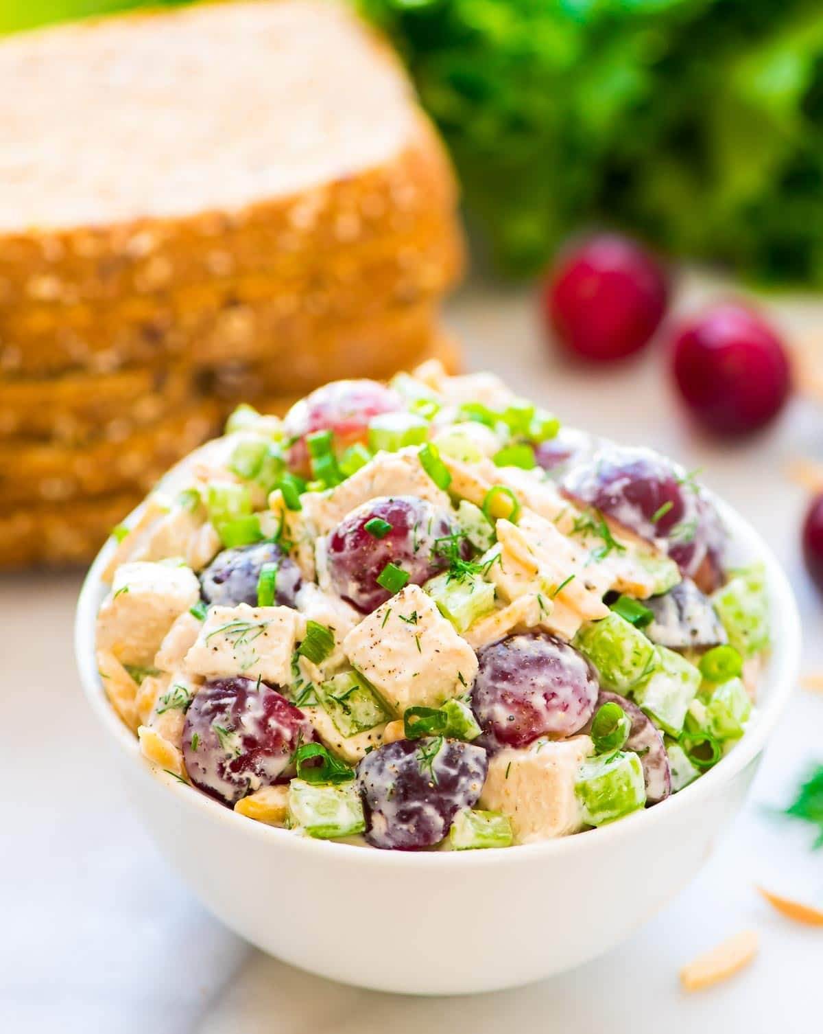 Healthy Chicken Salad Recipe With Greek Yogurt  Greek Yogurt Chicken Salad with Dill