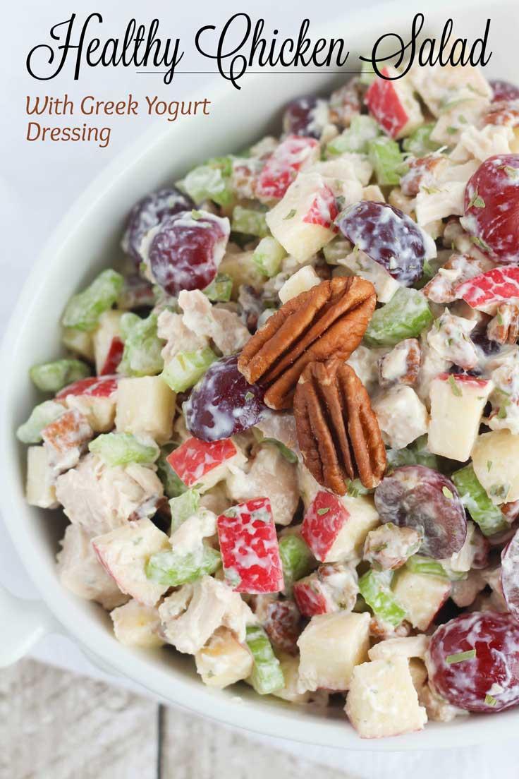 Healthy Chicken Salad Recipe With Greek Yogurt  Healthy Chicken Salad with Grapes Apples and Tarragon