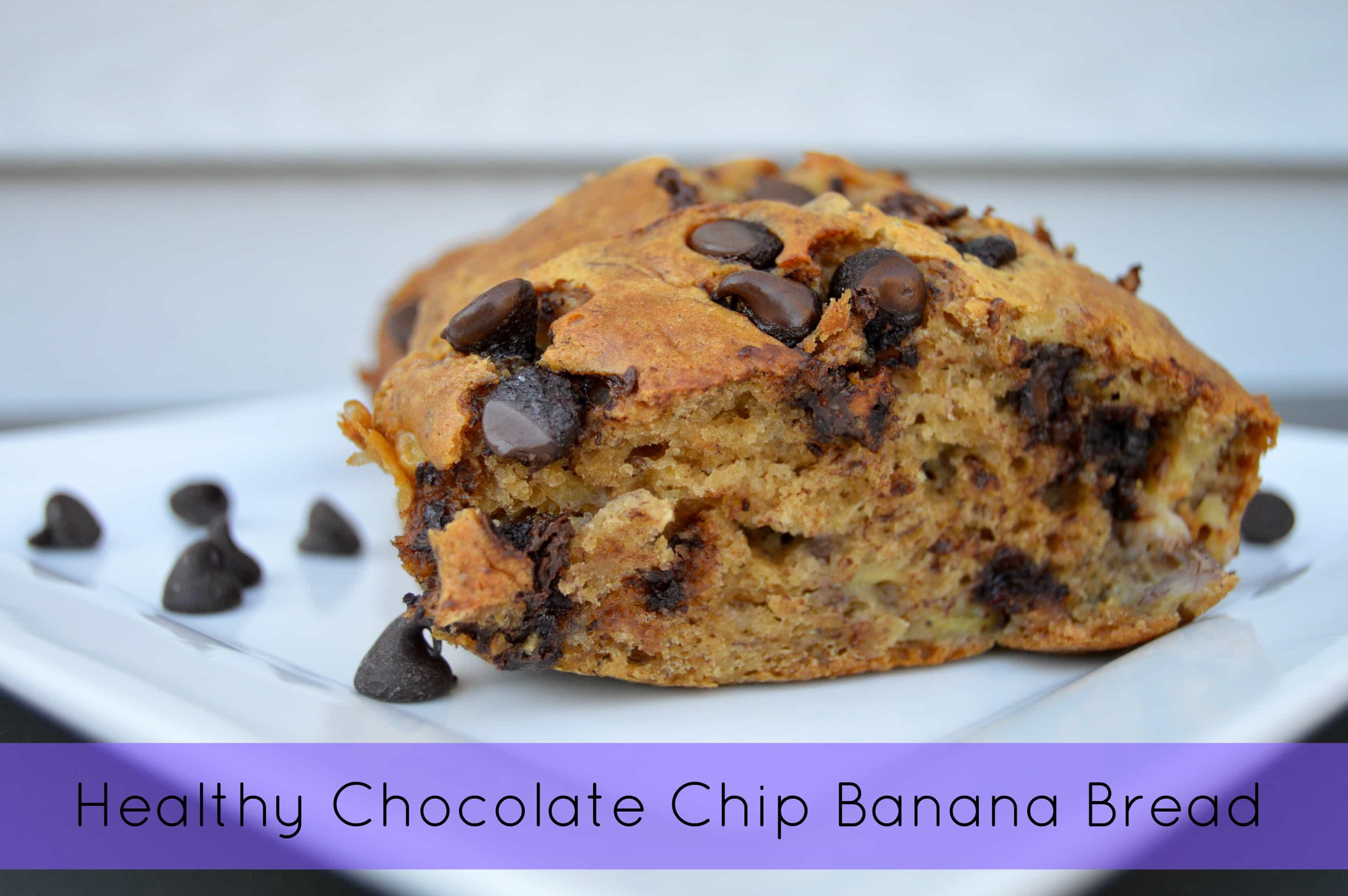 Healthy Chocolate Banana Bread  Healthy Chocolate Chip Banana Bread Citrus Blossom Bliss