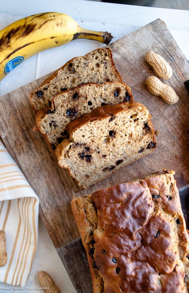 Healthy Chocolate Banana Bread  Healthy Whole Wheat Chocolate Chip Banana Bread — Peanut
