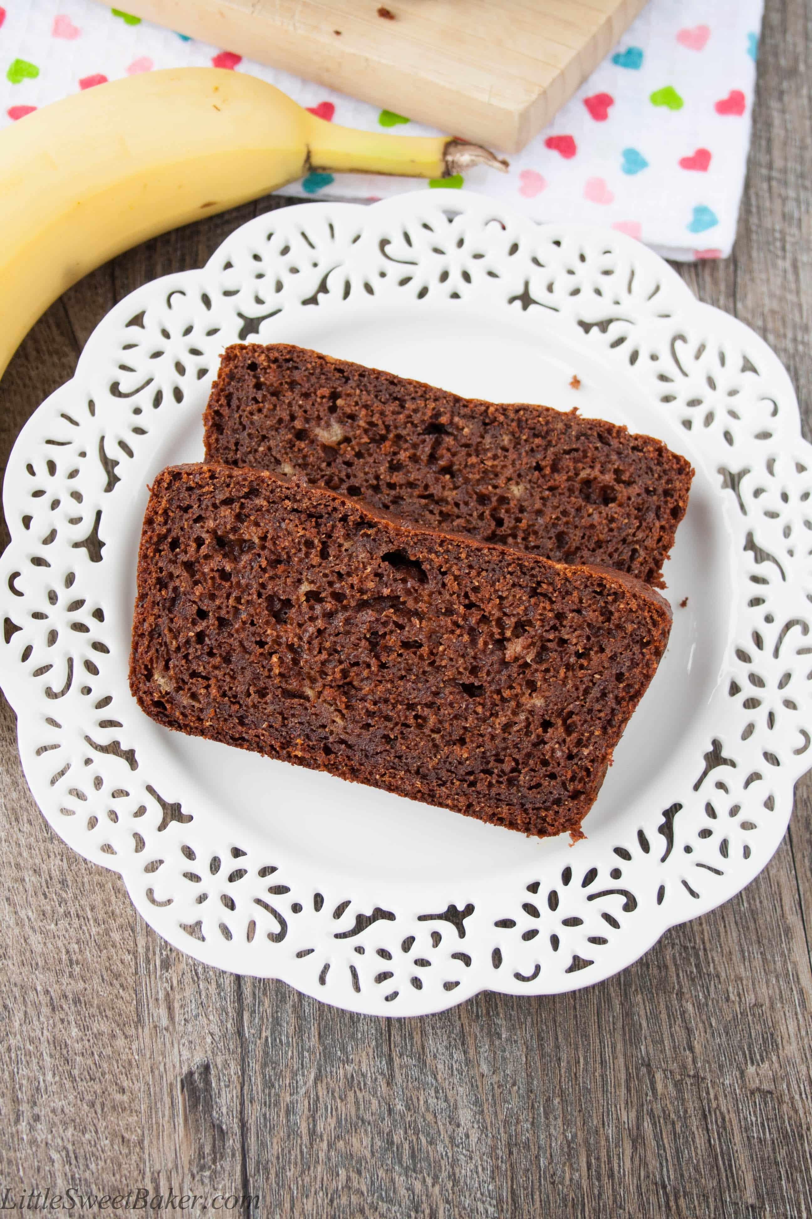 Healthy Chocolate Banana Bread  Healthy Chocolate Banana Bread Little Sweet Baker