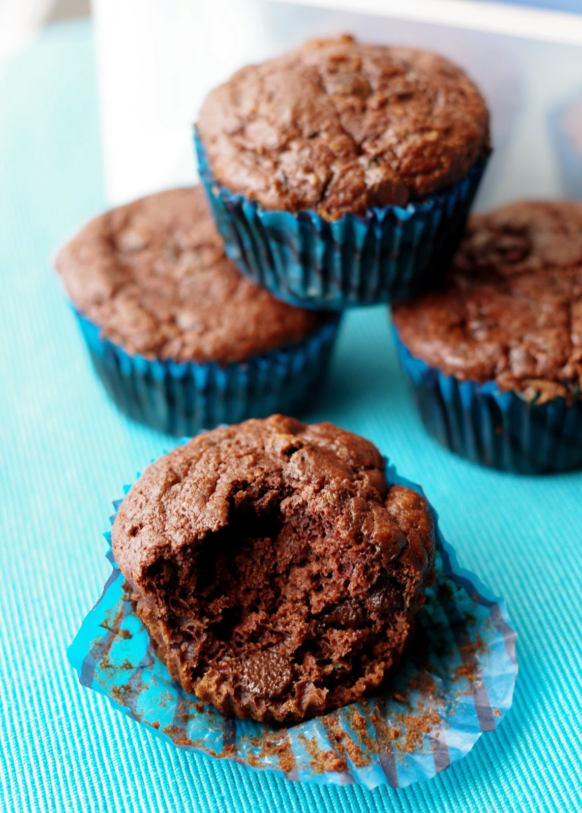 Healthy Chocolate Chip Zucchini Muffins  the nOATbook Healthy Chocolate Chip Zucchini Muffins