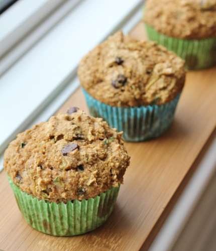 Healthy Chocolate Chip Zucchini Muffins  Healthy Girl s Kitchen Love Loss and Zucchini Muffins