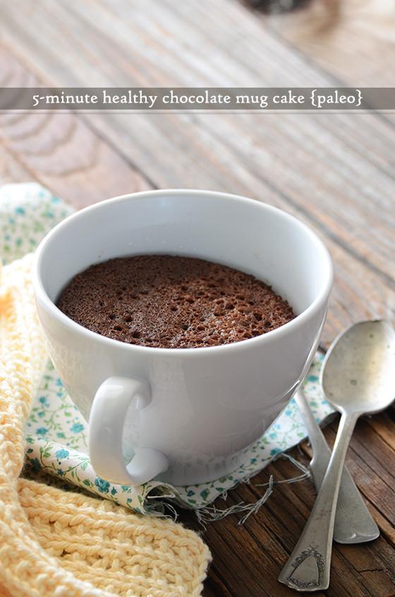 Healthy Chocolate Mug Cake  5 Minute Healthy Chocolate Mug Cake Paleo