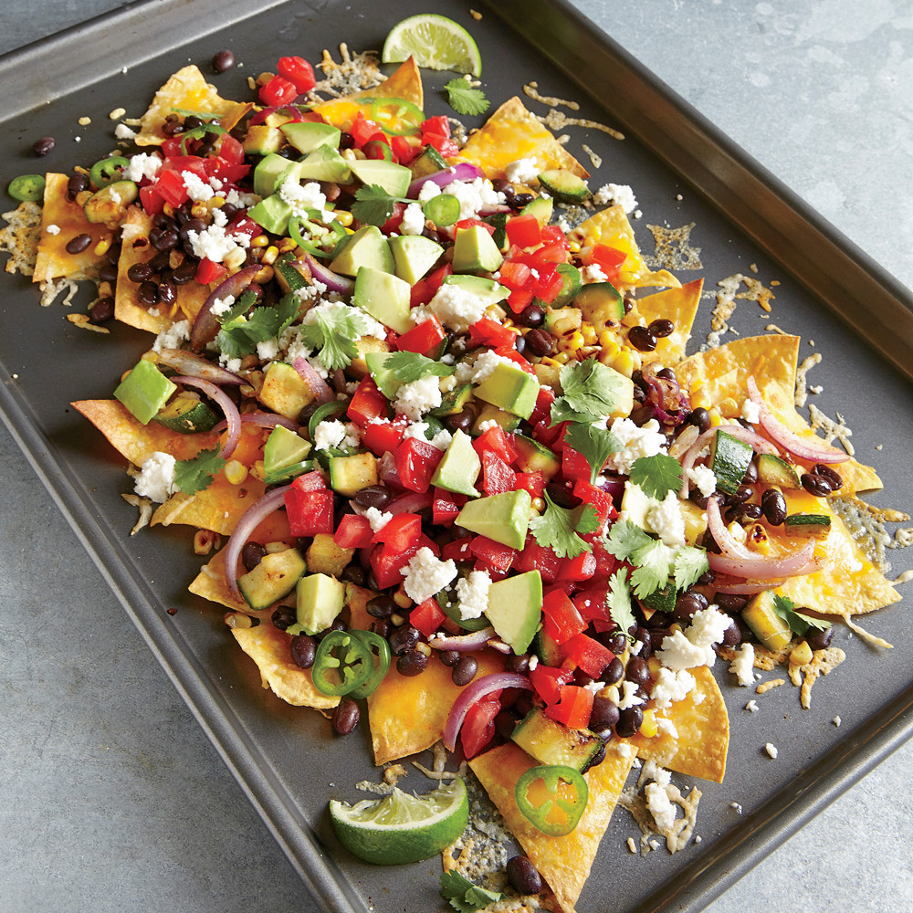 Healthy Cooking For Two  Two Cheese Veggie Nachos Recipe