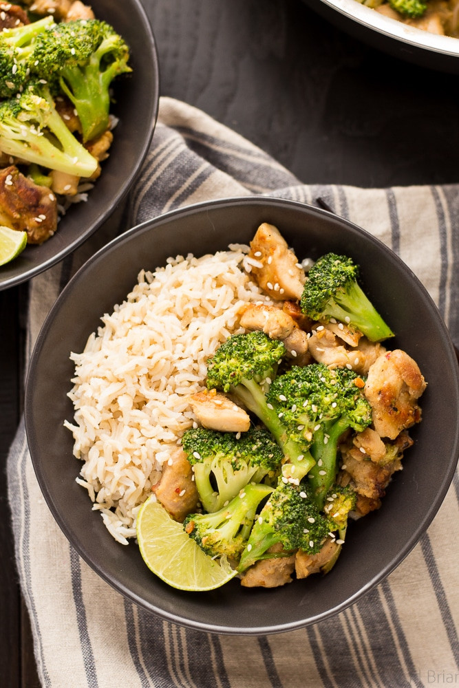 Healthy Dinner Ideas With Chicken  Peanut Sauce Chicken and Broccoli Bowls Fox and Briar