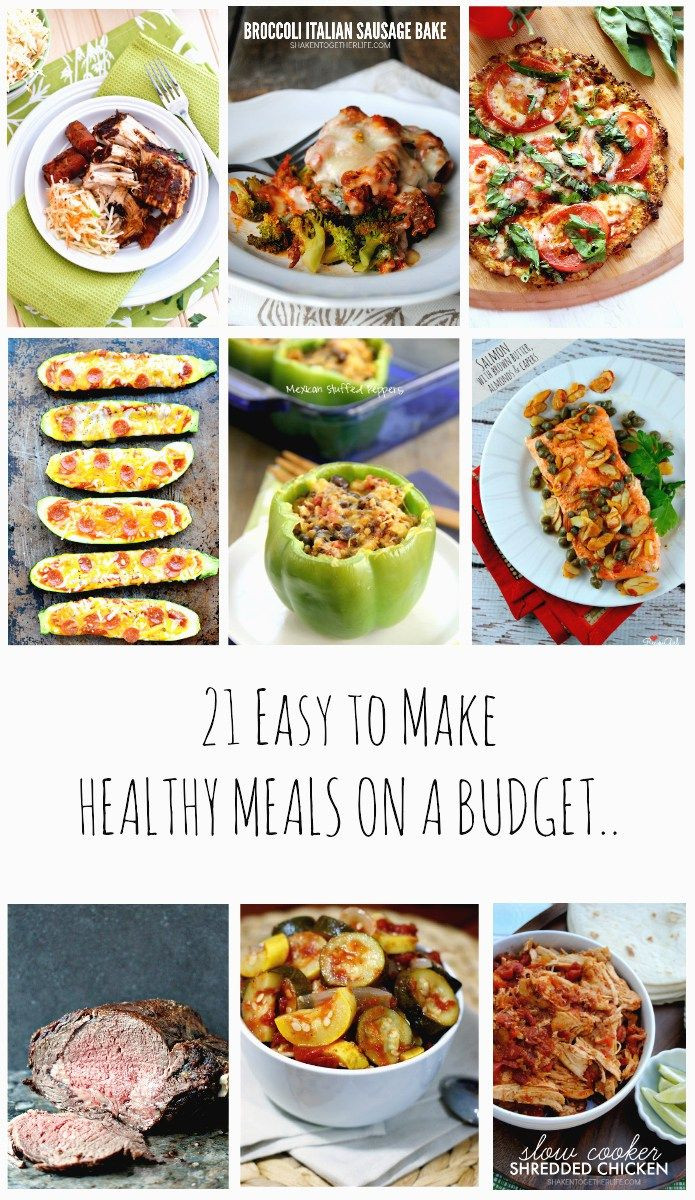 Healthy Dinners To Make  21 Easy to make Healthy Meals on a Bud