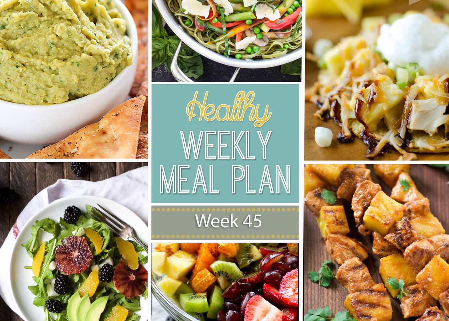 Healthy Dinners To Make  Healthy Weekly Meal Plan 45 Yummy Healthy Easy