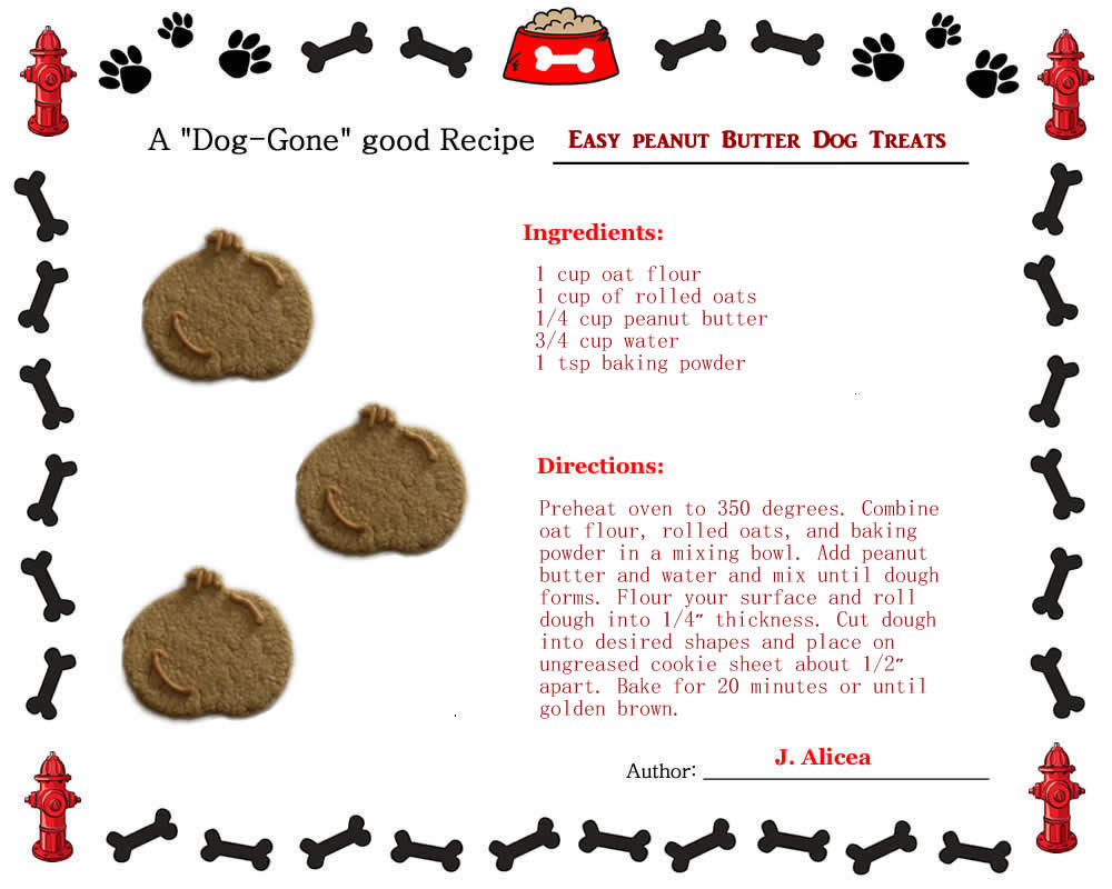 Healthy Dog Biscuit Recipe  Healthy Dog Biscuit Recipes Oats & Oatmeal