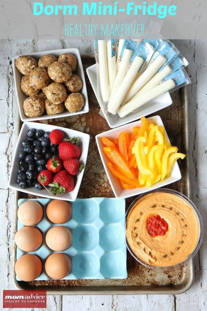Healthy Dorm Room Snacks  Dorm Mini Fridge Healthy Makeover MomAdvice
