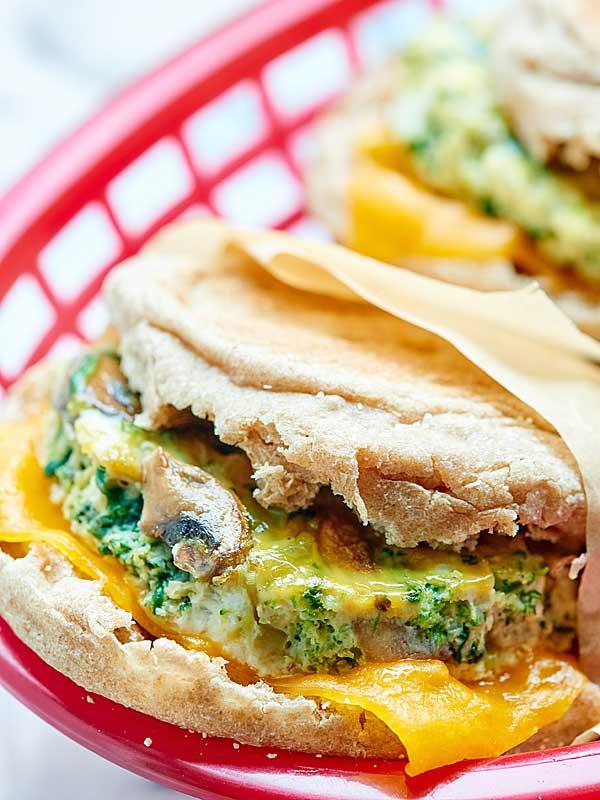 Healthy Egg Breakfast Sandwich  Healthy Breakfast Sandwich Make Ahead Option