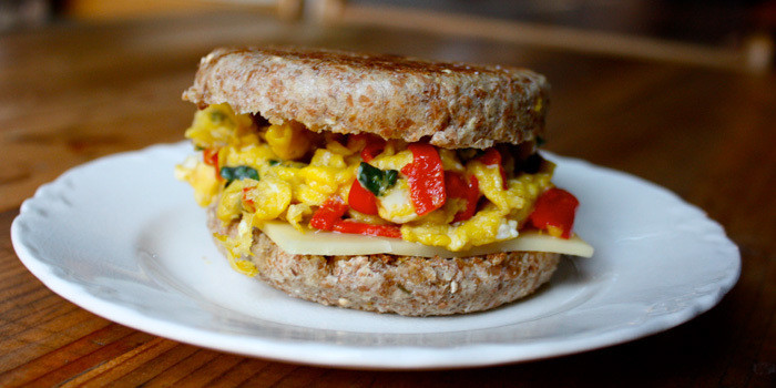 Healthy Egg Breakfast Sandwich  Fast Healthy Customizable & Portable Breakfast Recipes
