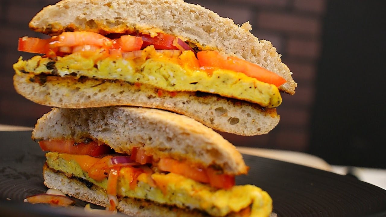 Healthy Egg Breakfast Sandwich  Easy egg sandwich healthy breakfast sandwich recipe