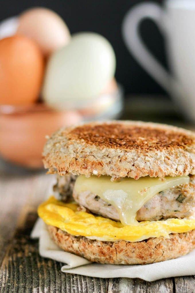 Healthy Egg Breakfast Sandwich  Healthy Freezer Friendly Breakfast Sandwiches
