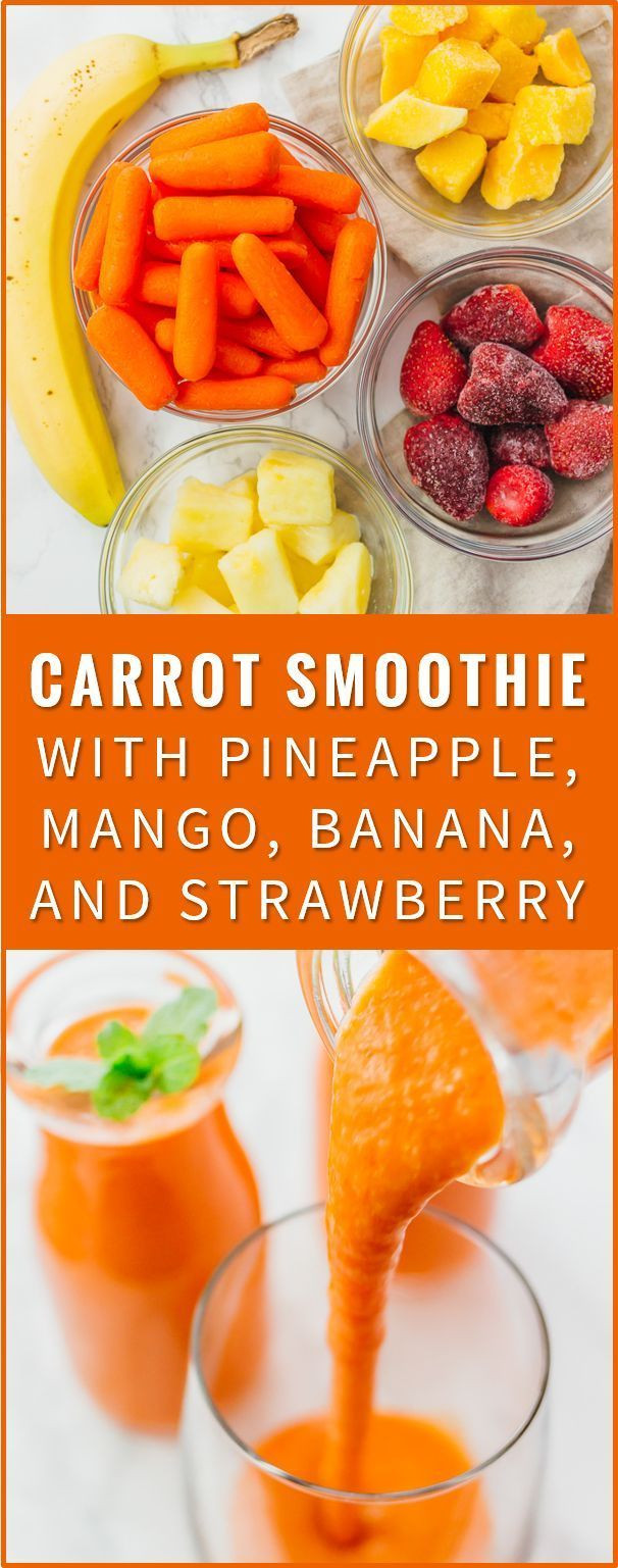 Healthy Filling Smoothies  This carrot smoothie is a healthy and filling breakfast