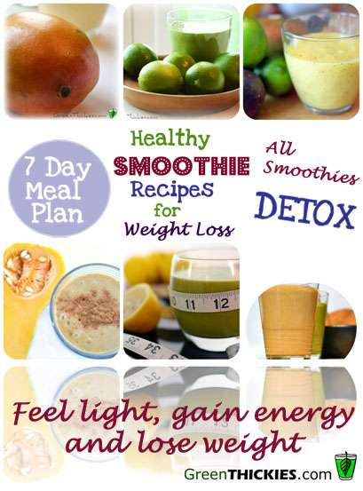 Healthy Fruit Smoothie Recipes For Weight Loss  Healthy Meal recipes to lose weight plicated Recipes