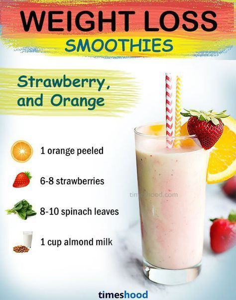 Healthy Fruit Smoothie Recipes For Weight Loss  Strawberry orange green smoothie for weight loss fat