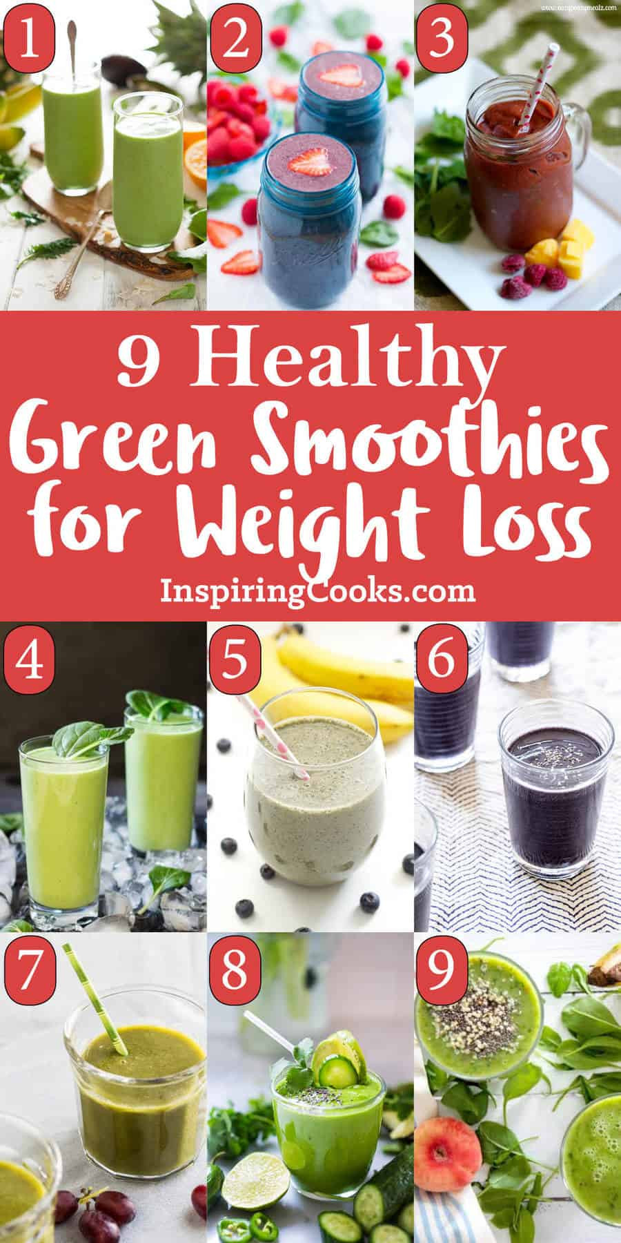 Healthy Green Smoothie Recipes For Weight Loss  The Best 9 Healthy Green Smoothies for Weight Loss