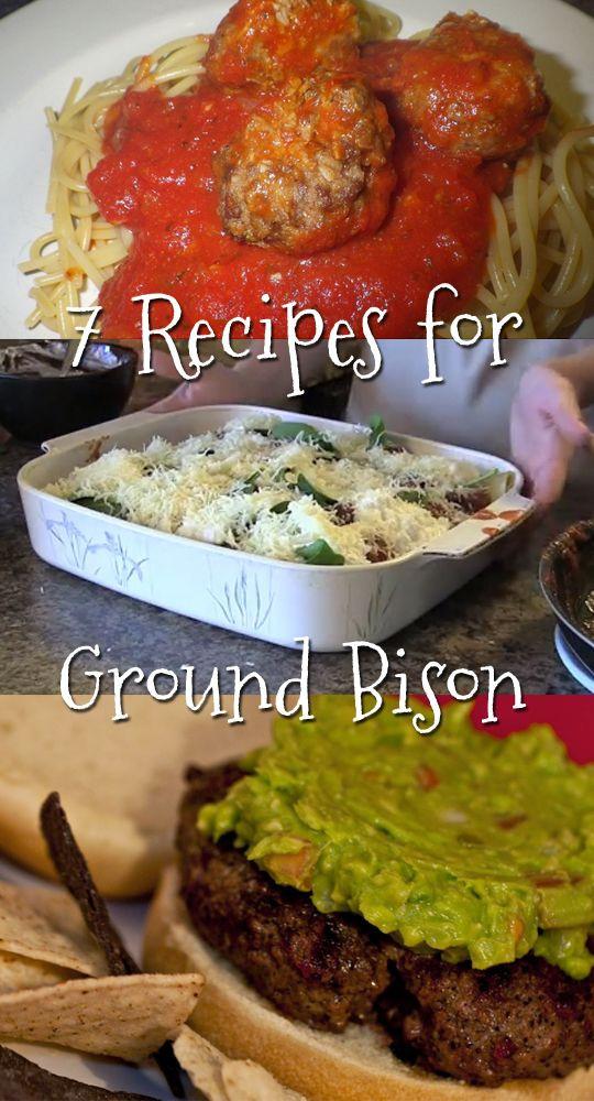 Healthy Ground Bison Recipes  100 Ground Bison Recipes on Pinterest