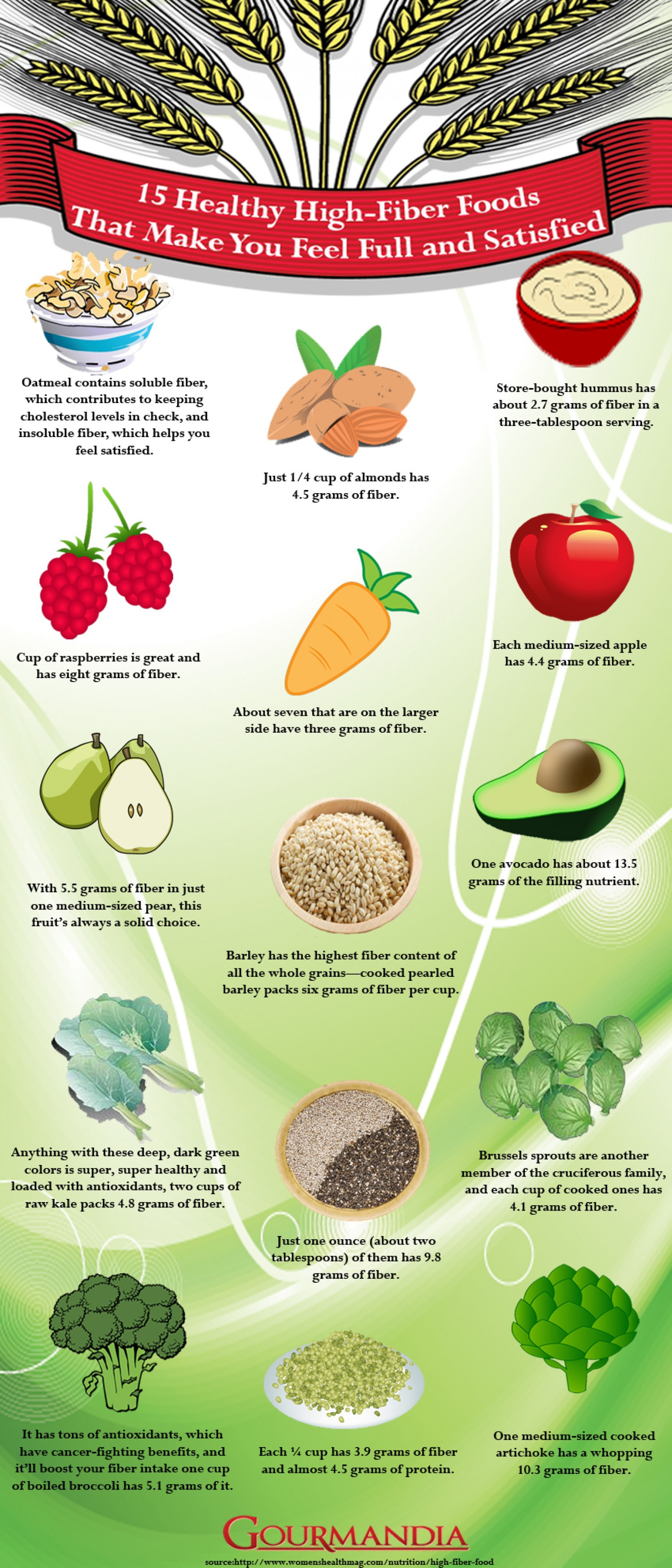 Healthy High Fiber Snacks  15 Healthy High Fiber Foods That Make You Feel Full and