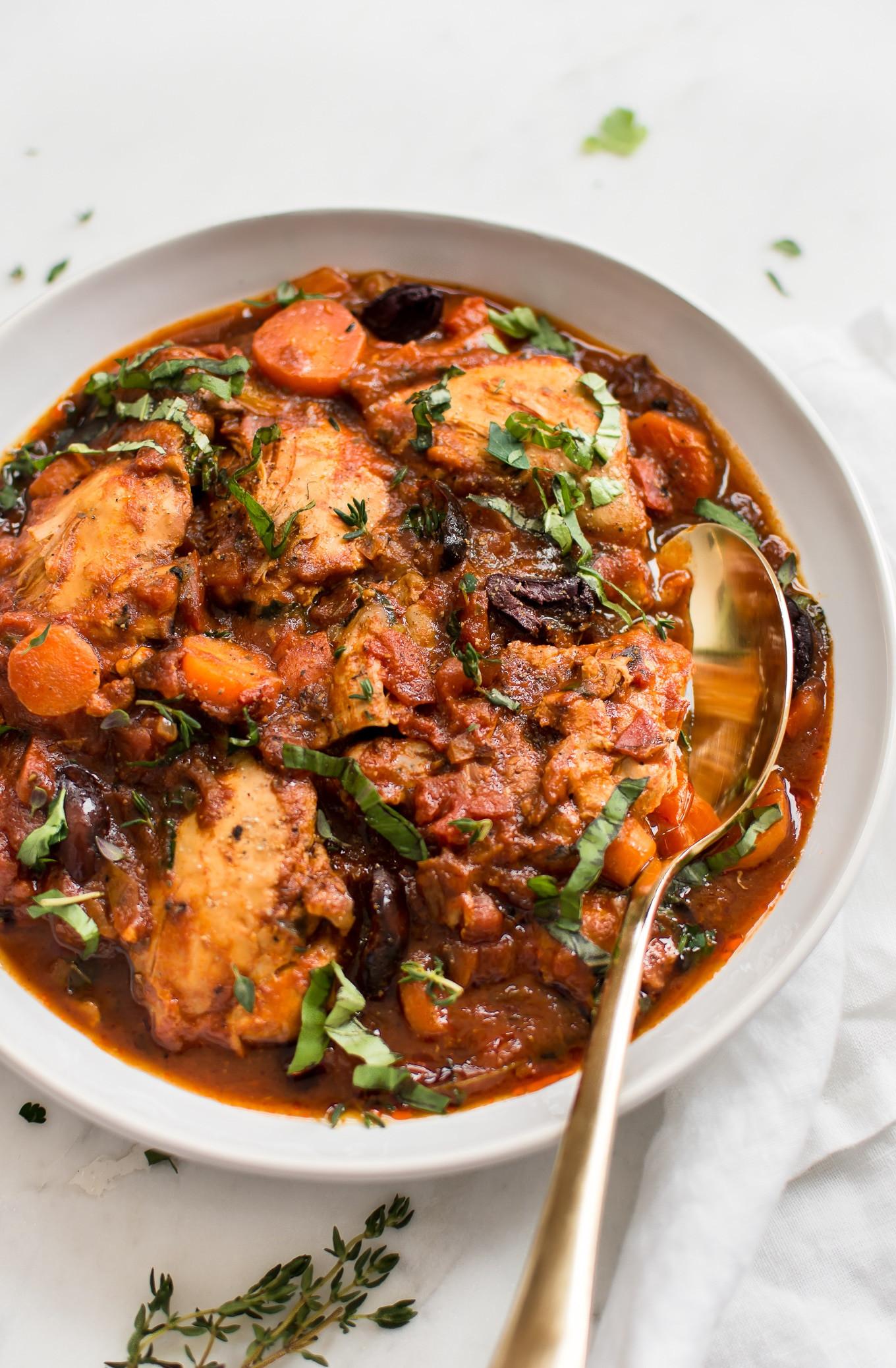 Healthy Instant Pot Recipes Chicken  Easy Instant Pot Chicken Cacciatore • Salt & Lavender