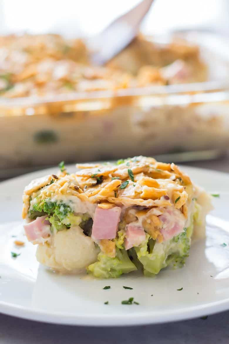 Healthy Leftover Ham Recipes  Healthy Broccoli Casserole Recipe with Ham • LeelaLicious